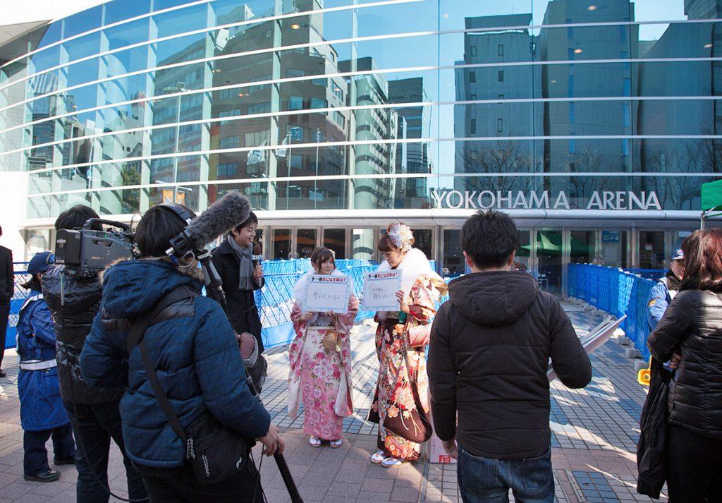 横浜市の成人式_取材陣