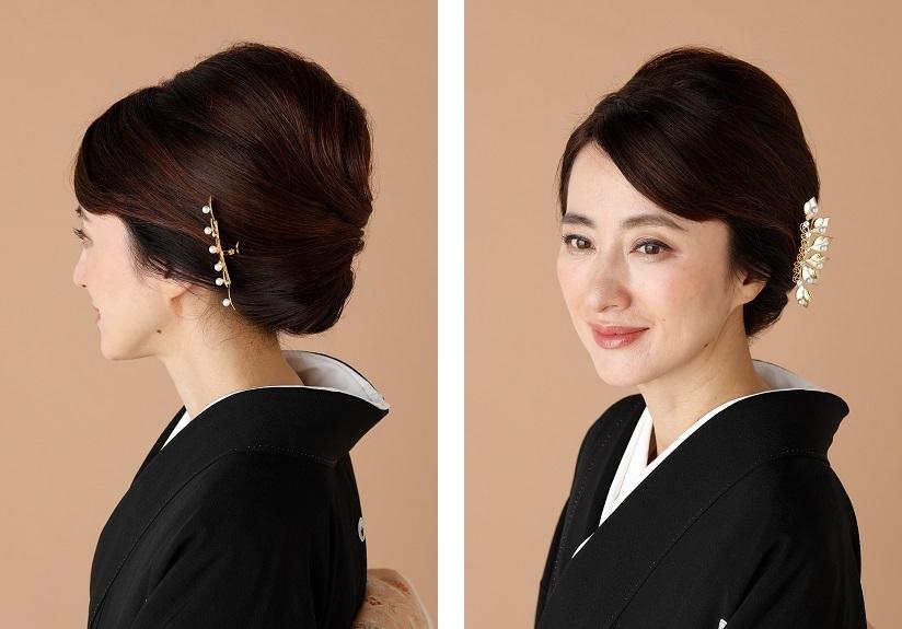 黒留袖に合う髪型例02