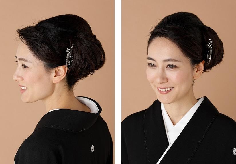 黒留袖に合う髪型例04