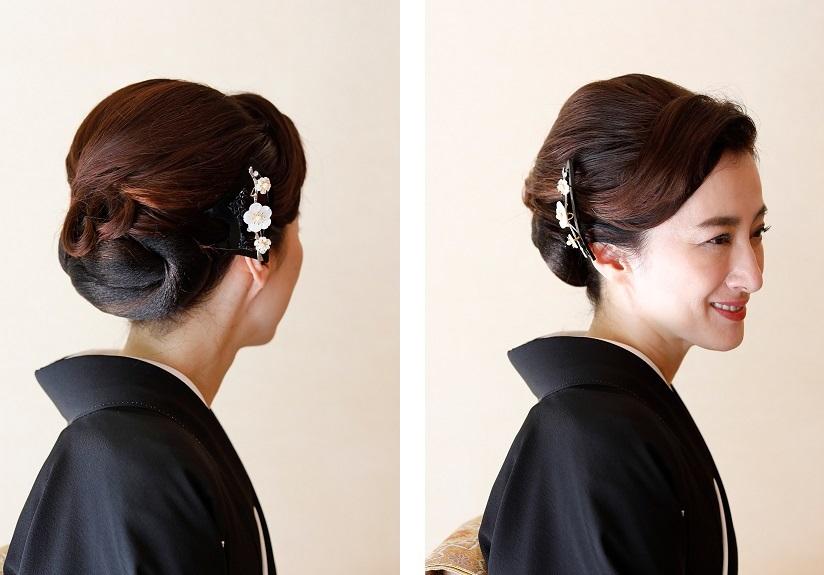 黒留袖に合う髪型例01
