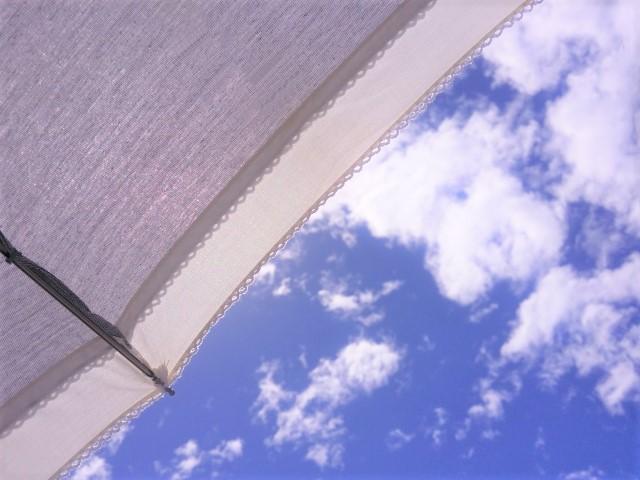 日傘と青空